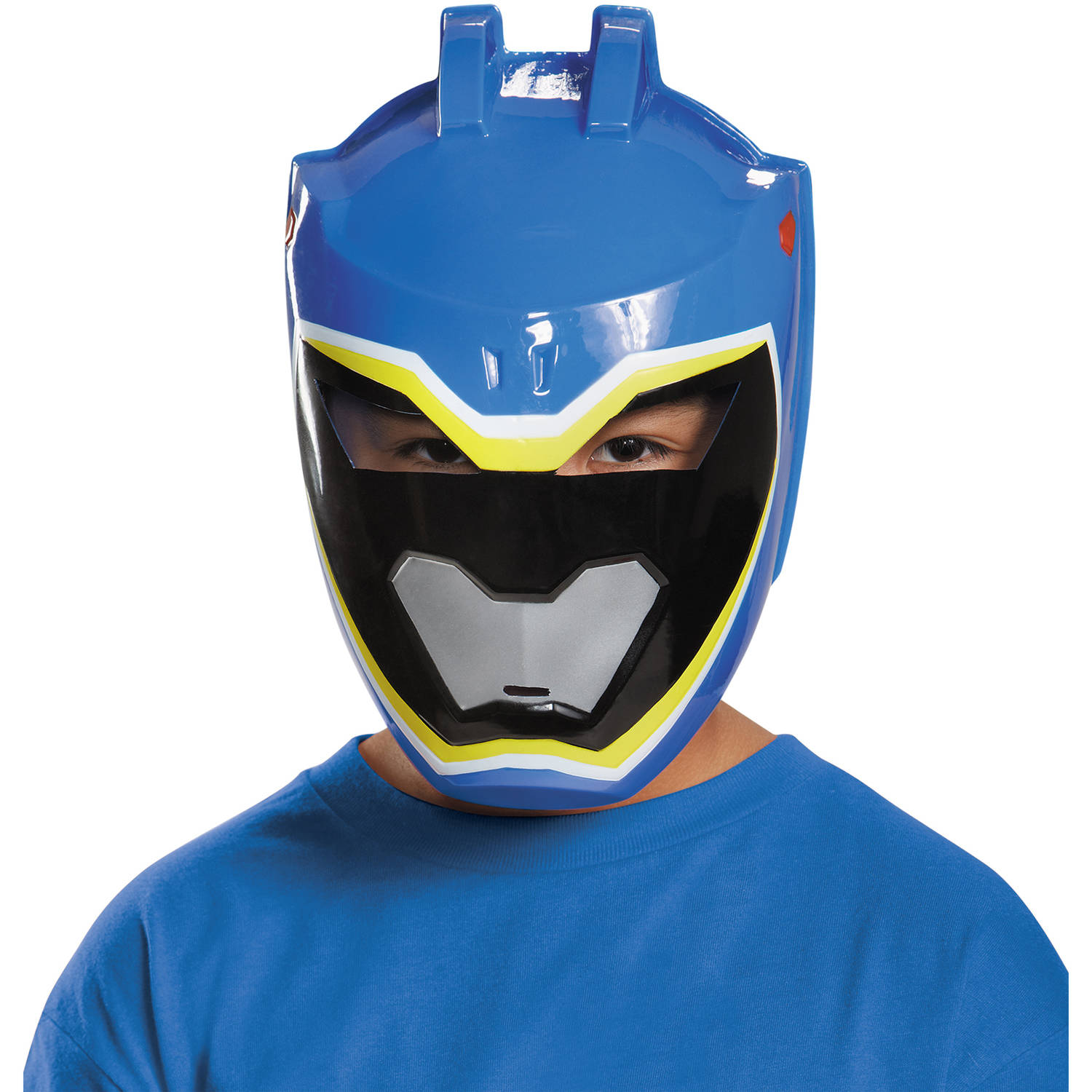 Blue Ranger Dino Charge Mask Child Halloween Accessory