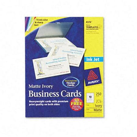 Inkjet Matte Business Cards 2 X 3 1 2 Ivory 10 Per Sheet 250 Cards