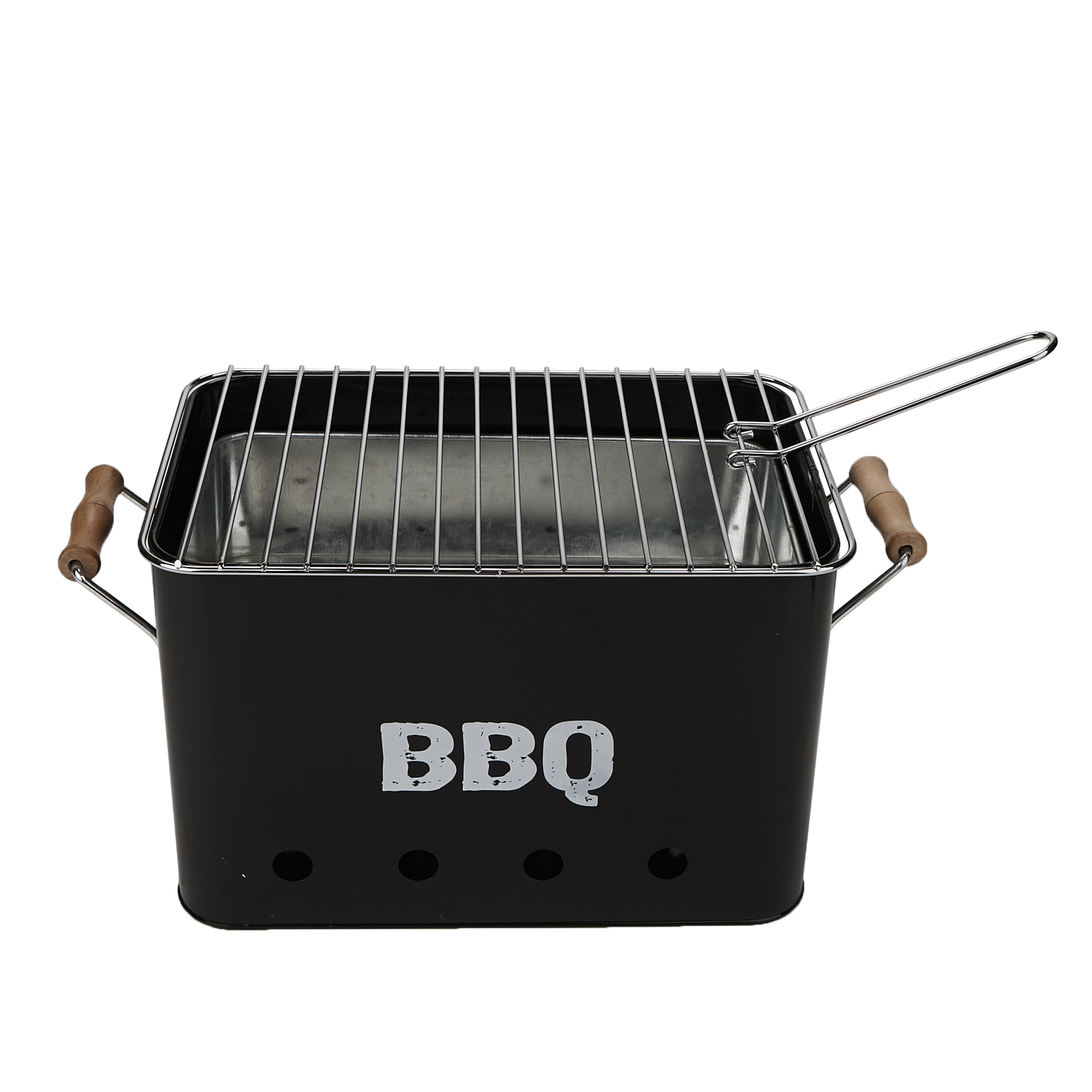 Genial Mind Reader Small Metal Portable BBQ Grill, Charcoal Lightweight Portable  Grill, Outdoor Grilling, Picnics, Beachs, Camping, Black