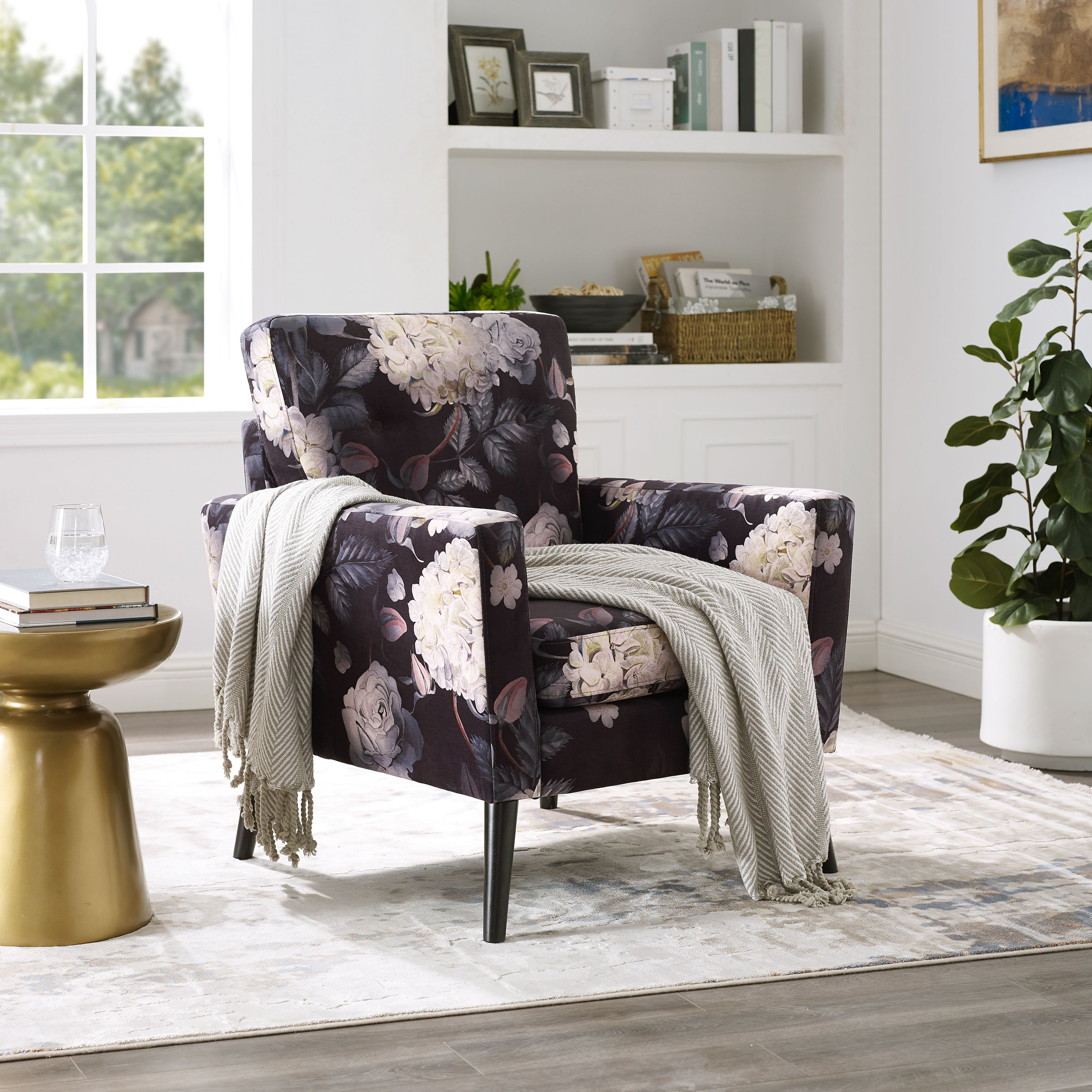 Picture of: Better Homes Gardens Floral Phoebe Side Accent Chair Walmart Com Walmart Com