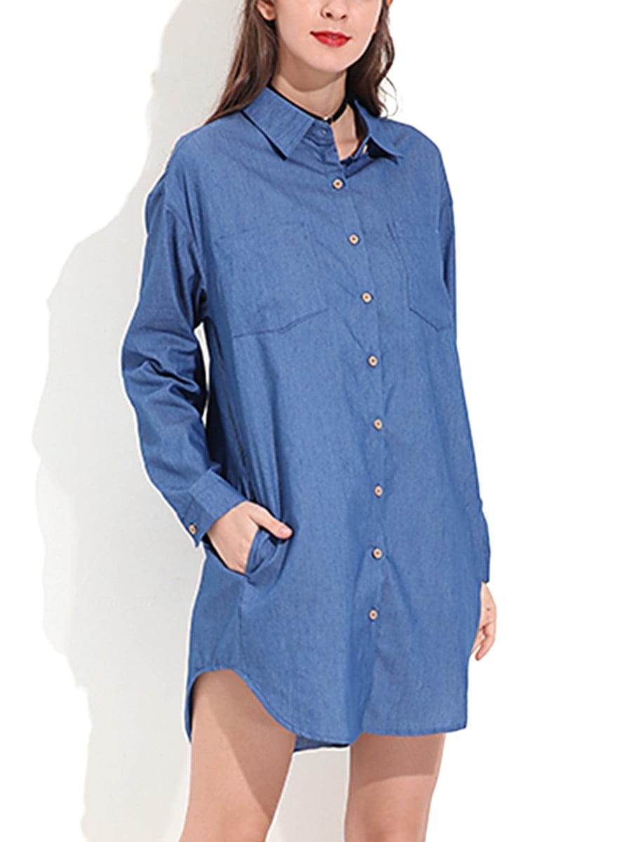 Zanzea Womens Blouses Shirts Walmart Com