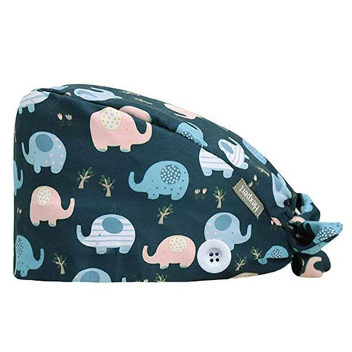 nobranded Working Cap with Sweatband Adjustable Tie Back Hats Unisex Landscape Animal Print Cute Pattern