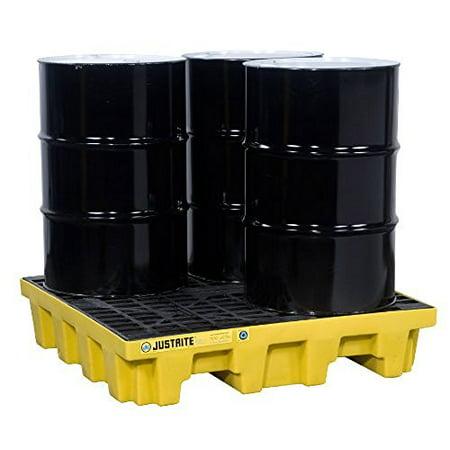 Justrite Spill Pallets (JUSTRITE 28636 Drum Spill Cntnmnt Pallet,Drain,4)