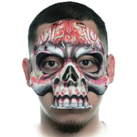 Creepy Fabric Form Fitting Gross Skull Face Mask Costume Accessory - Gross Halloween Pics