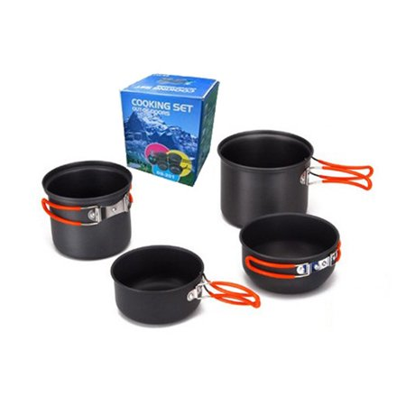 Lemonbest Outdoor Camping Cookware Set Dishes Cookware Travel Cutlery Utensils Hiking Utensils Picnic Cooking Tool - image 3 of 7