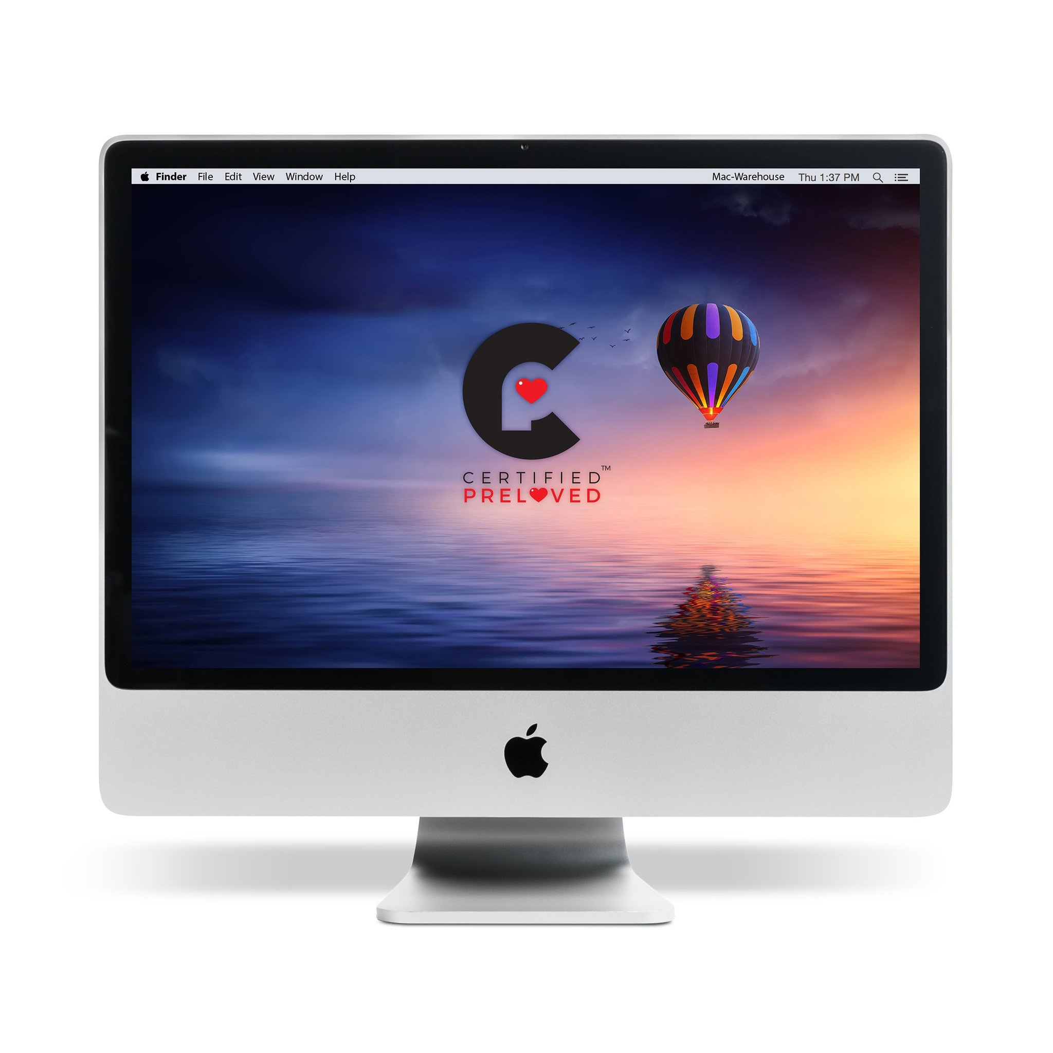 "Refurbished Apple MA876LL/A All-in-One iMac with Intel Core 2 Duo Processor, 4GB Memory, 20"" Display, 250GB Hard Drive and Mac OS X 10.11 El Capitan"