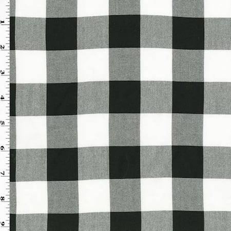 Black/White Checkered Plaid Flannelette, Fabric By the Yard](Black And White Checkered Flag Fabric)
