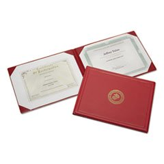 SKILCRAFT Award Certificate Binder With Gold Marine Crops Seal