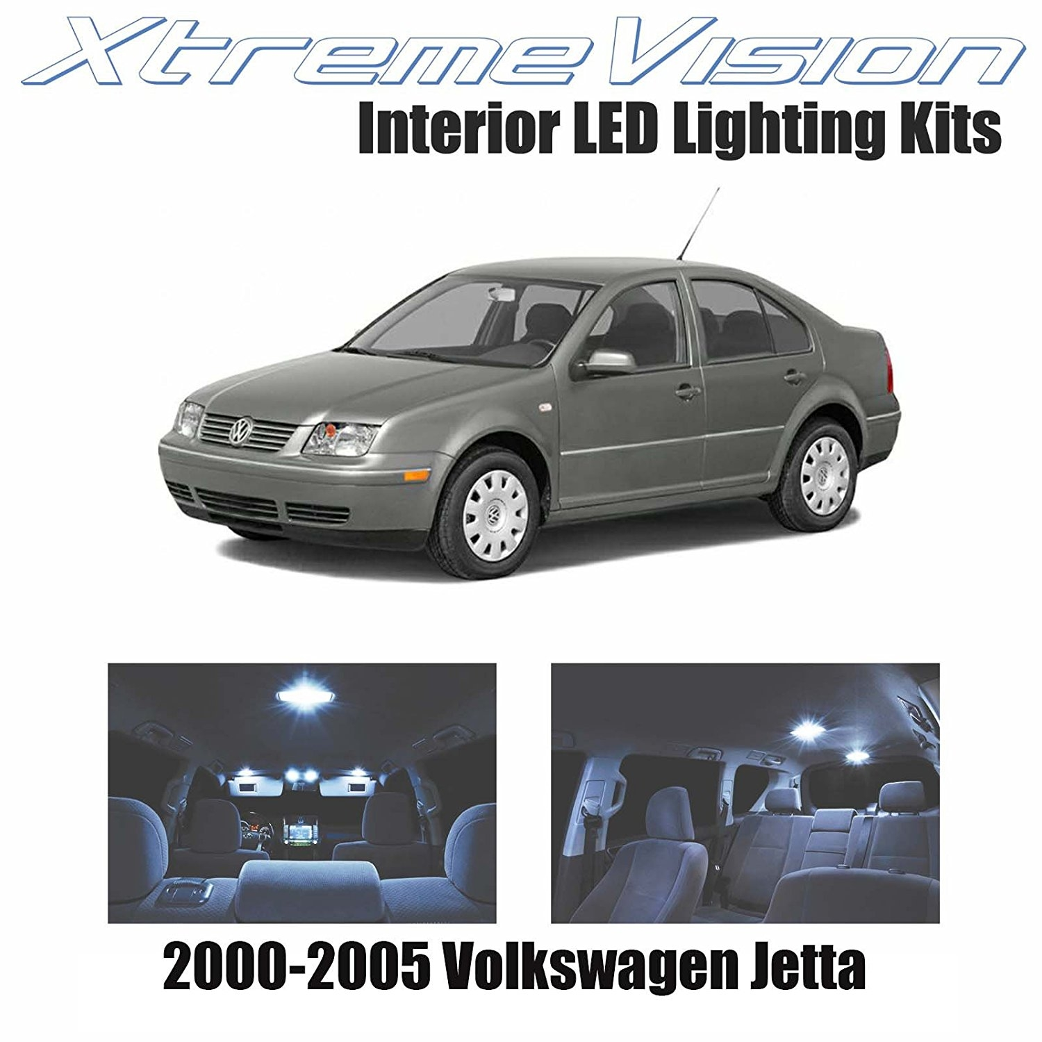 XtremeVision LED for Volkswagen Jetta 2000-2005 (9 Pieces) Cool White Premium Interior LED Kit Package + Installation Tool