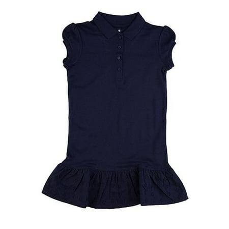 School Uniform Ruffled Polo Shirt Dress CCG0011H (Best School Clothes Sales)