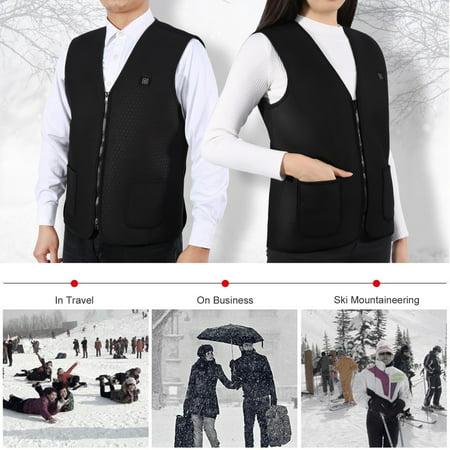 Heated Vest,Heated Wind Resistant Sleeveless Vest Jacket,Ymiko Women Men Heated Sleeveless Jacket Vest Heating Winter Waterproof Warm Coats