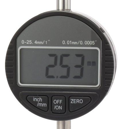 """Comparateur à cadran numérique électronique et gamme métrique 0-1"""""""" avec ergot arrière - image 2 de 6"""