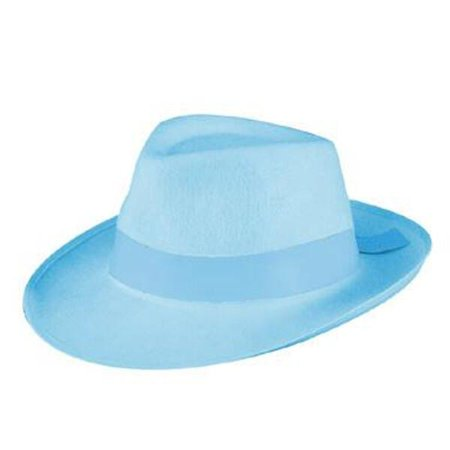 Light Blue Fedora Gangster - Gangster Moll Hat
