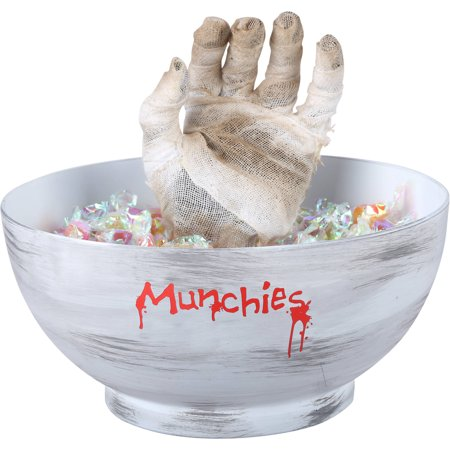 Halloween Decorations Animated Props (Gemmy Animated Mummy Hand Candy Bowl Halloween)