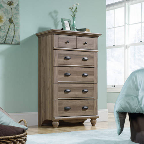 Sauder Harbor View 5-Drawer Dresser, Salt Oak