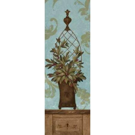 Blue Olive Topiary I Poster Print by Pamela Gladding