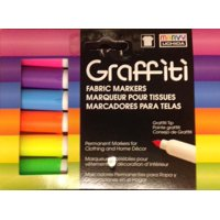 Marvy Uchida Neon Graffiti Fabric Marker, 6 Piece