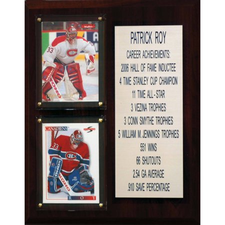 C&I Collectables NHL 8x10 Patrick Roy Montreal Canadiens Career Stat Plaque