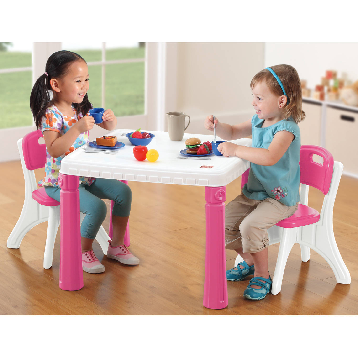 Step2 LifeStyle Kids Table and 2 Chairs Set Multiple Colors - Walmart.com  sc 1 st  Walmart : kids dining table and chair set - pezcame.com