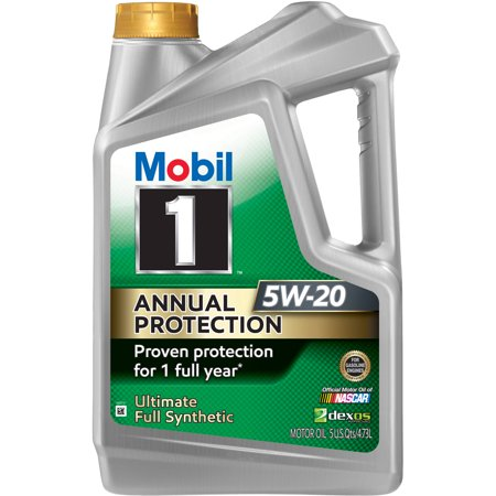 Mobil 1 Annual Protection Full Synthetic Motor Oil 5W-20, 5 Quart