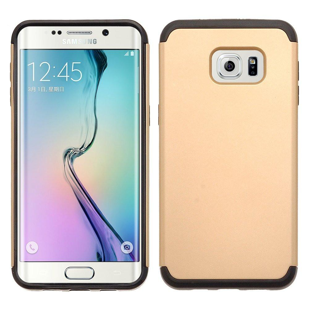 Galaxy S6 Edge Plus [Shock Absorption/Impact Resistant] Hybrid Dual Layer Armor Defender Protective Case Cover - Gold