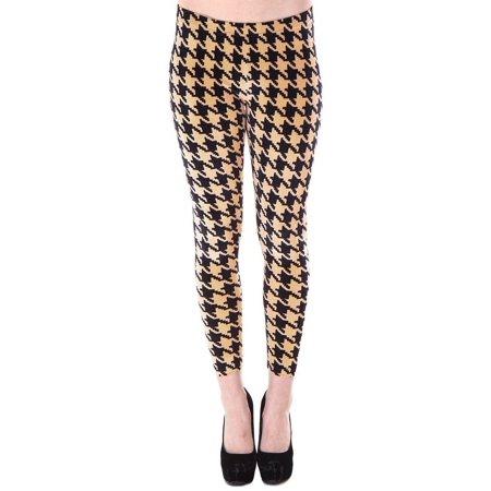 cec3e3f7083da5 Simplicity Women's Multi-Pattern Stretchy Full Length Leggings - Houndstooth  Print
