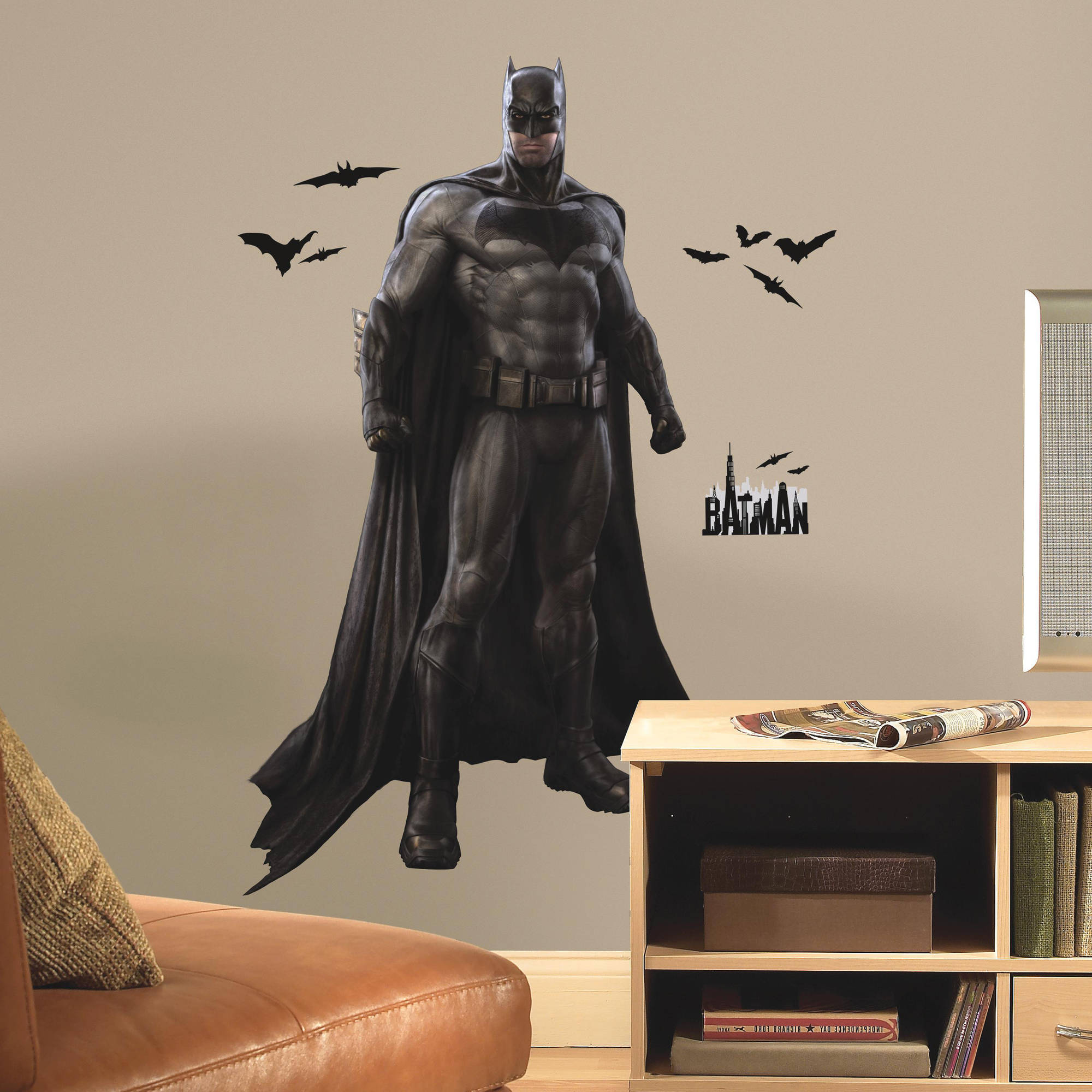 RoomMates Batman vs Superman Batman Peel and Stick Giant Wall Decals by Room Mates