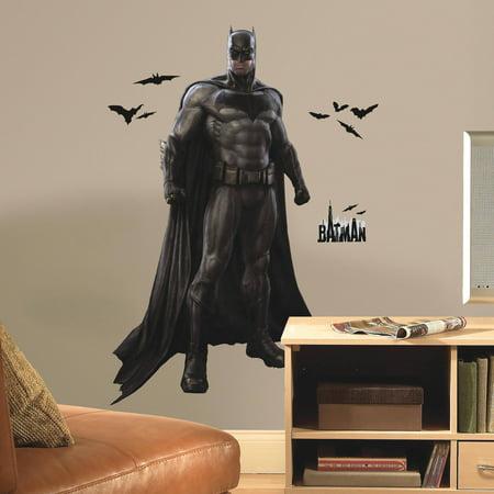 roommates batman vs superman batman peel and stick giant wall decals. Black Bedroom Furniture Sets. Home Design Ideas