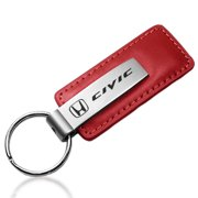 Honda Civic Red Leather Key Chain