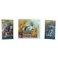 Pokemon Sun Nintendo 3DS Video Game & 2 Pokemon Trading Card Game Sun & Moon Booster Packs