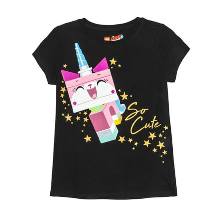 So Cute Uni-Kitty Glitter Graphic T-Shirt (Little Girls & Big - Feel Good Movie T-shirt