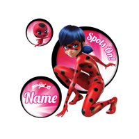 Personalized Miraculous Ladybug Spots On Easy-Move Canvas Decal, Pink