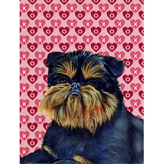 Carolines Treasures LH9163CHF 28 x 40 in. Brussels Griffon Hearts Love And Valentines Day Flag Canvas House Size - image 1 de 1