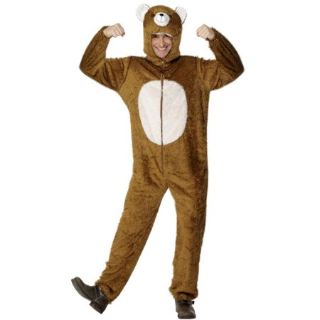 Men's Fluffy Forest Happy Cuddly Papa Bear One Piece Costume Medium 38-40](Costume Castle Lake Forest)