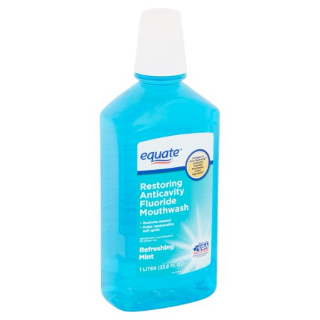 Equate Refreshing Mint Restoring Anticavity Fluoride Mouthwash, 33.8 fl