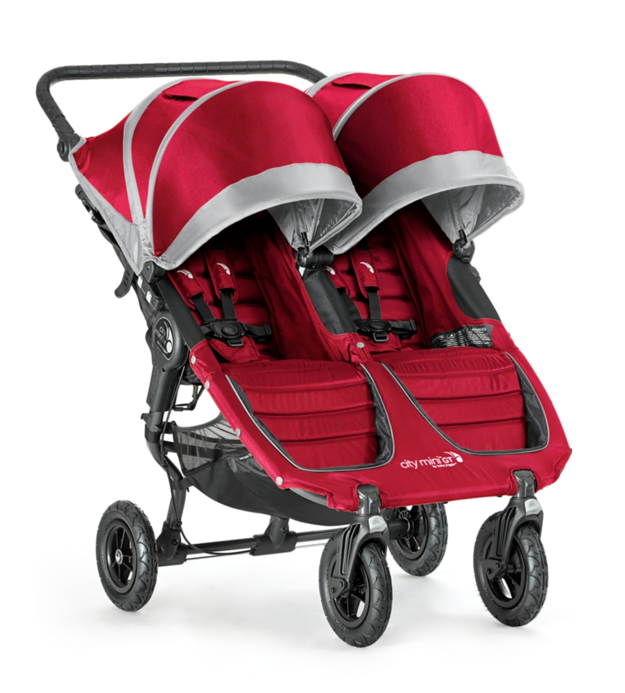 Baby Jogger 2016 City Mini GT Double Stroller - Crimson/Gray