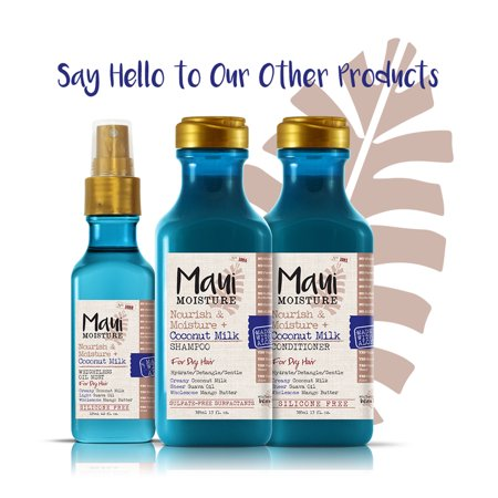Maui Moisture Nourish & Moisture + Coconut Milk Weightless Oil Mist, .