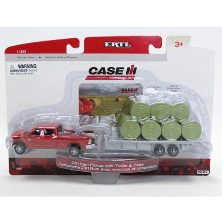 ERTL 1:64 Ram Pick Up with Trailer and Bales (5 Year Old Won T Pick Up Toys)