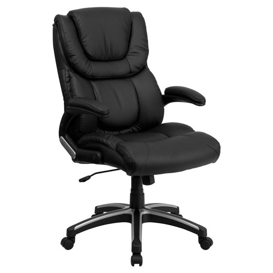 Flash Furniture High Back Leather Executive Office Chair Black