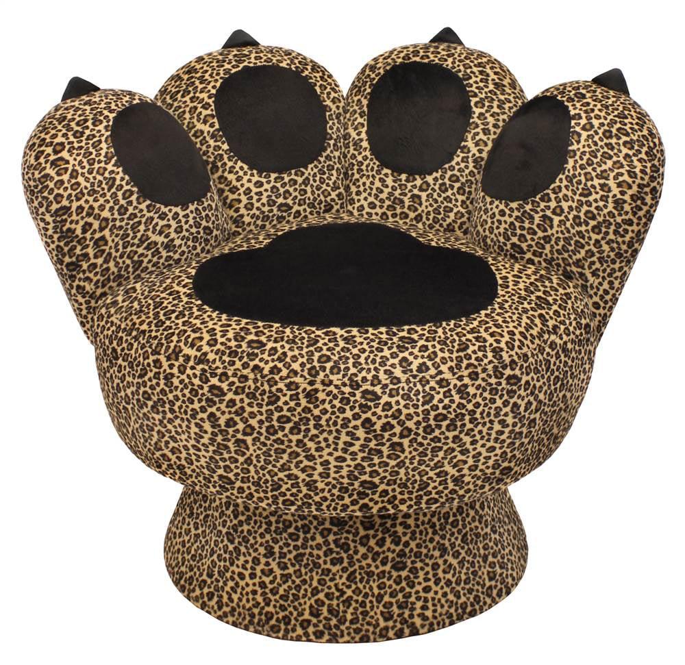 22 Quot Leopard Heart Accent Chair With 2 Pillows Walmart Com