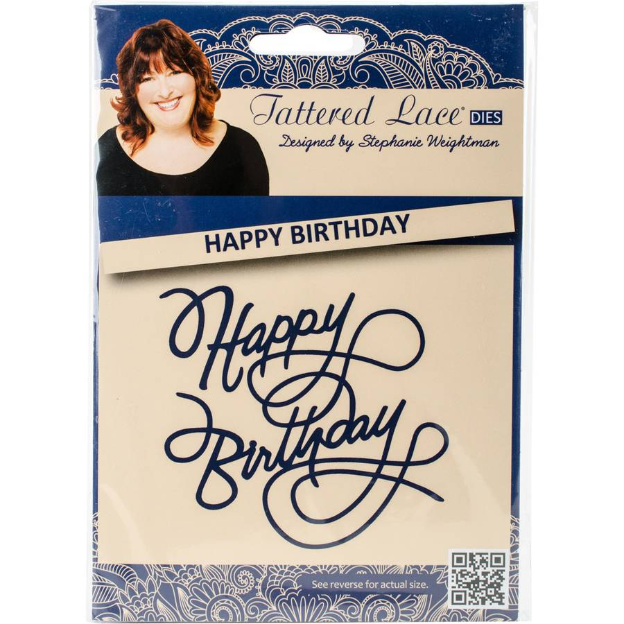 Tattered Lace Metal Die-Ornate Happy Birthday