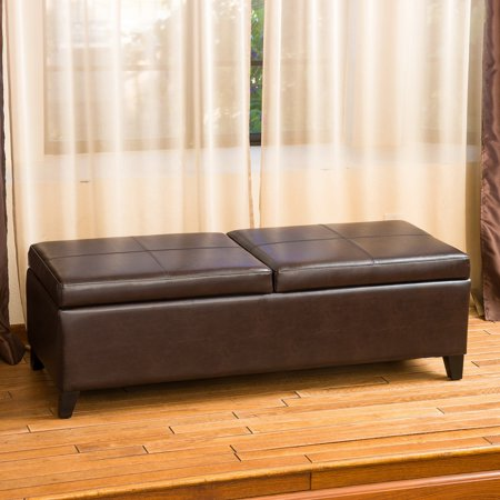 Fantastic Lena Double Lift Top Leather Storage Ottoman Alphanode Cool Chair Designs And Ideas Alphanodeonline