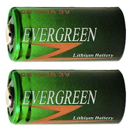 2pcs Evergreen CR123 2/3A 3V Lithium Batteries CR17335 CR17345 DL123
