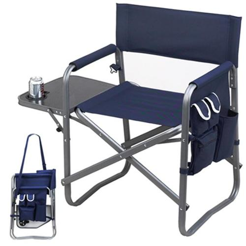 Picnic Ascot 463-B Folding Sports Chair with Table and Organizer - Navy