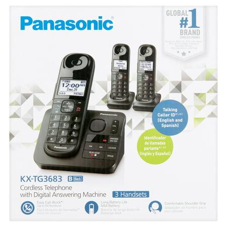 Panasonic Black Cordless Telephone with Digital Answering Machine