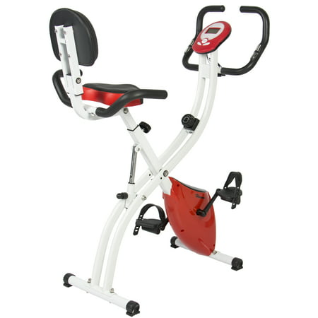 Best Choice Products Upright Exercise Bike 8 Resistance Levels, 3 Seat Positions, Folding and Adjustable -