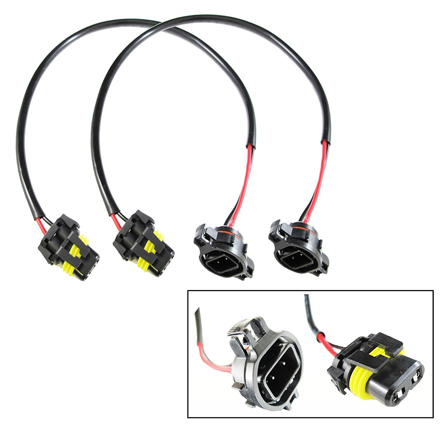 Xotic Tech 5202 H16 Wire Harness for HID Ballast to Stock