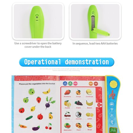 Kids Learning Machine Common Sense Cognitive Intelligence Logic Learning  Pen Educational Toy Color:YS2607A