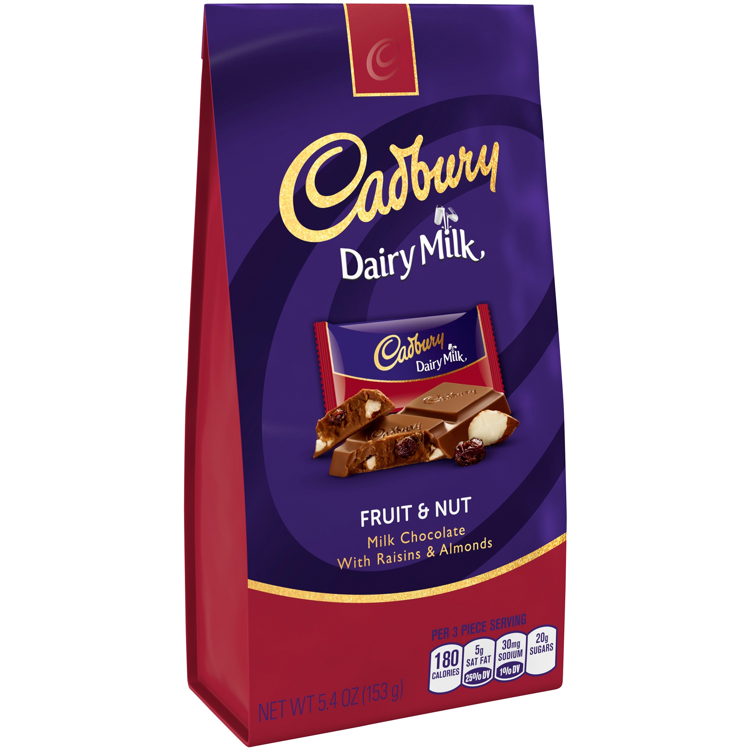 Cadbury Dairy Milk Fruit & Nut Milk Chocolate, 5.4 oz by The Hershey Company