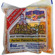Great Northern Popcorn Case Portion Packs, 24 Count, 8-Ounce